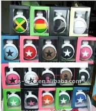 Alibaba good quality free sample headphone with big star