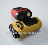 3in1 multi-function flashlight and camera mp3 player with built in speaker with usb port