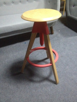 pub Swivel Counter wood Stool