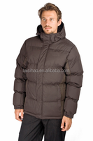 Men winter coat khaki color