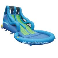 swimming pool water slide inflatable double lane slip water slide