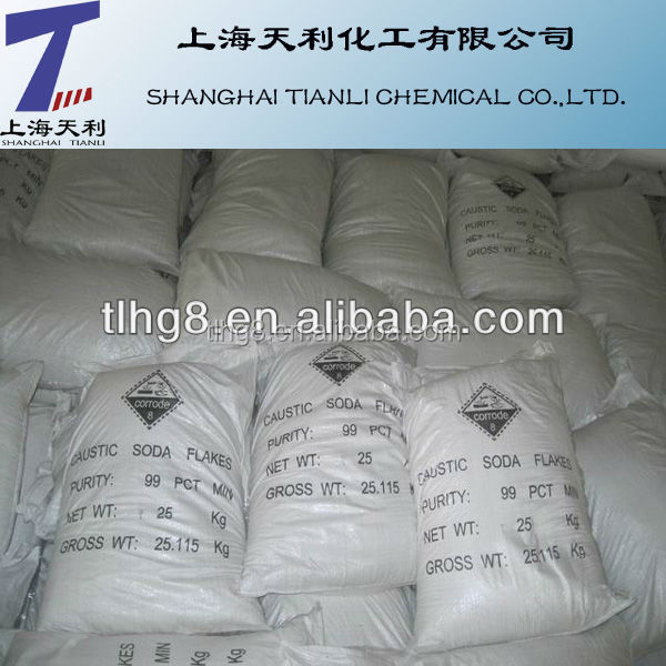 99% NaOH Flake Caustic Soda for Export High Quality