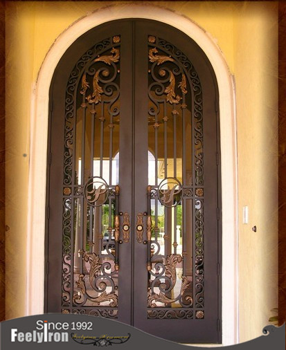 Affordable wrought iron exterior <strong>doors</strong> FD-003