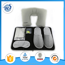 Hot sale Business Travel Kit eye mask slippers pouch with good quality