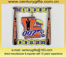 Customize baseball metal badges, composite member with a small dangle, various designs are available