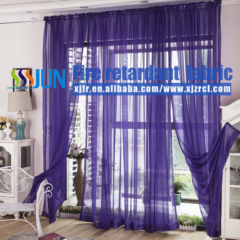 Factory wholesale sheer curtain, America Style flame retardant fabrics and anti pilling, waterproof sheer curtains