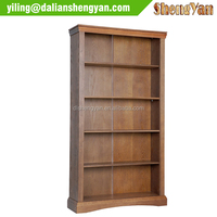 High Quality Flat Pack Wooden Tall Antique Furniture Bookcase