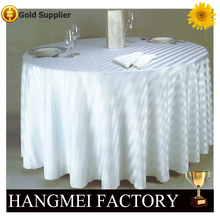 Round White polyester table cloth / white wedding table cover