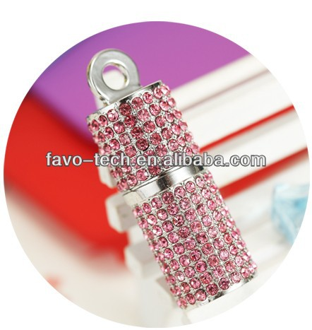 Gift jewelry usb drive 1gb 2gb gadgets 2014 cylindrical crystal usb