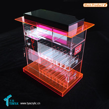 Custom Retail Store Counter Top Acrylic E Cig Display Case,E Cigarette Counter Display,E Cigarette Display Stand