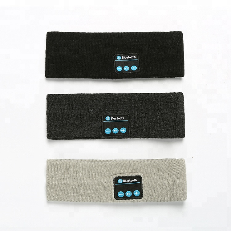 Cheap Wholesale Price Wireless Knitting Blue tooth Sport <strong>Headband</strong> With Stereo Speakers Mic