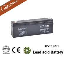 MATRIX brand vrla 12v 2.3ah sealed lead acid battery