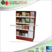 Strong and beautiful corrugated cardboard floor display stand shlef for Book