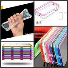 For iPhone 5/ 5s/ 6/ 6s Plus Incoming Call Led Blink Transparent TPU+PC Bumper Phone Case for iphone 6s/ 6s plus