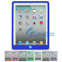 New Cute Silicone Protection Sleeve Case Cover Skin with button For iPad 2 for new iPad for iPad 3