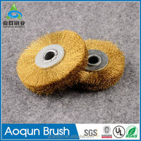 Industrial brass wire wheel brush road sweeping brush