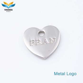 fashion custom engraved metal jewelry hang tag with brand logo