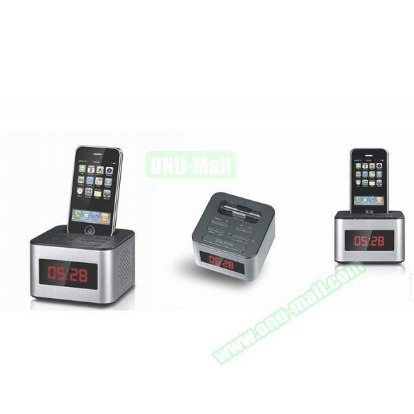 6 inch portable led alarm clock radio docking station for. Black Bedroom Furniture Sets. Home Design Ideas