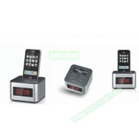 6 inch Portable LED Alarm Clock Radio Docking Station for iPhone 5 etc