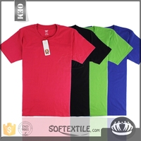 softextile Bangladesh t-shirts in wholesale clothing factory price 2016 lastest 100% combed cotton for men's t-shirts