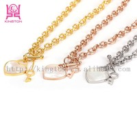 2015 Hot and trendy jewelry stainless steel necklace with shell pearl