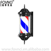 Barber Pole LED Light Red White Blue Stripes Rotating Metal Hair Salon Shop Sign