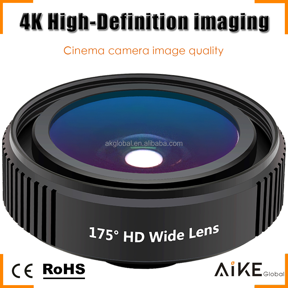 Professional Cinema Quality 4K HD Distortionless Wide Angle Lens Cell Phone Wide Camera Lens for iPhone 7 7 Plus