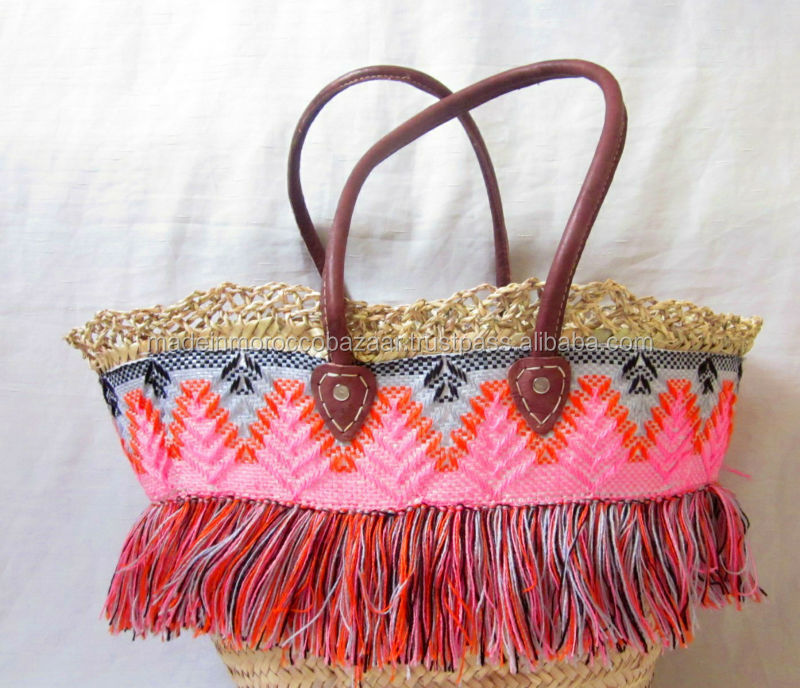 Fair Trade Moroccan Handcrafted Shopping Beach Wicker Baskets