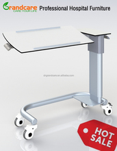 G-FW002 Hospital Bedside Table With Rotating Table-top And Gas Spring Lifting