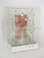 spring hurricane glass with candle gift set