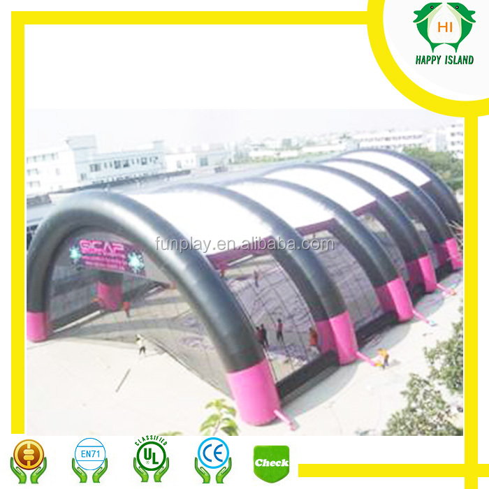 Good service inflatable tunnel tent,inflatable projection dome tent,inflatable emergency tent