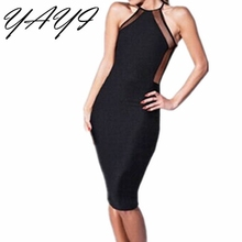 In Stock black Spandex Women Celebrity Wear to work Fashion Slimming Bodycon Party bandage Dresses club dress