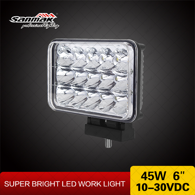 "Hot 4 x 6 sealed headlight 4""x 6"" 45W truck LED headlight Heavy Duty Tractor replacement Lamp"