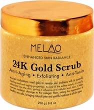 24K Gold Facial Mask 8.8 Oz - 2017 New arrival 24k gold facial scrub body gold scrub for skin care manufacturer