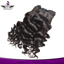 Wholesale no shedding free tangling good feedback pissy deep wave brazilian hair