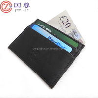 Genuine Leather Business Credit Card Case Pocket Slim Mini Wallet Holder
