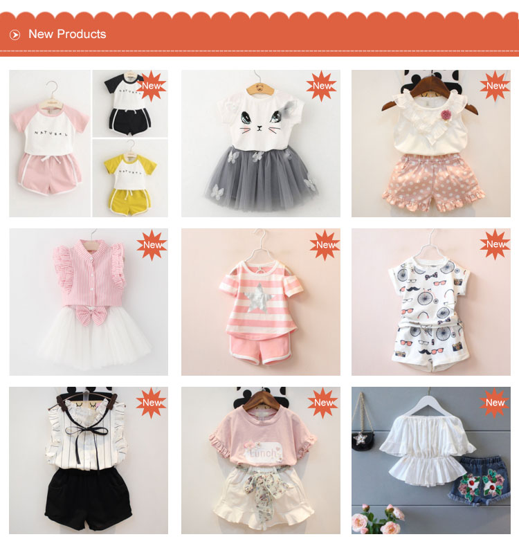 High quality children baby girl clothes clothing set boutique A034