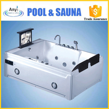 luxury two people hot sexy bath shower spa acrylic jets surfing tub with TV DVD