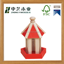 Rustic natural mini small custom hanging garden decoration wooden bird cage house wholesale