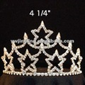 patriotic star shape rhinestone pageant crowns