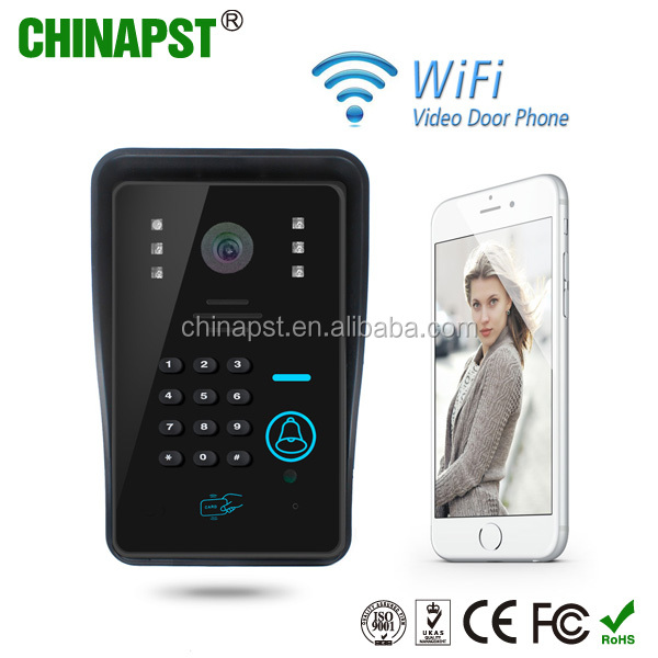 Top sale! Access Control with Wireless Unlock android/iphone door bell wifi apartment video door phone PST-WIFI002IDS