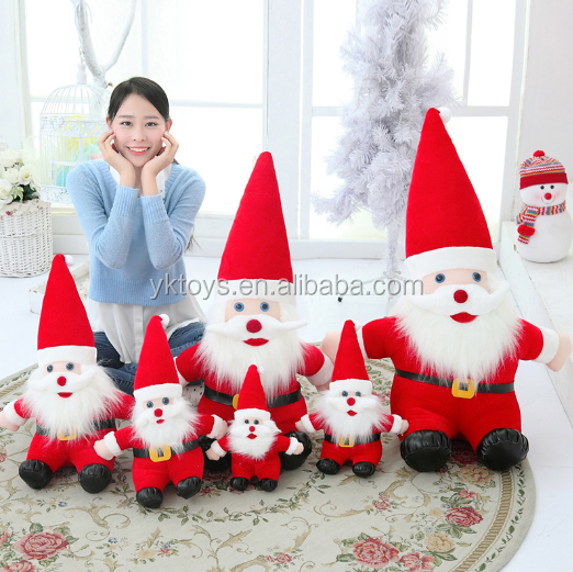 2014 plush christmas santa mouse stuffed toy soft plush santa toys