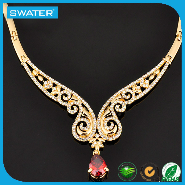 2016 New Women Wedding Jewelry Saudi Gold Necklace