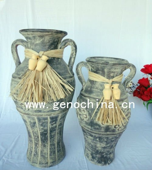 Fashion flower vase for gardening decoration clay vase