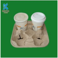 Biodegradable recover custom anti-slip coffee capsule tray