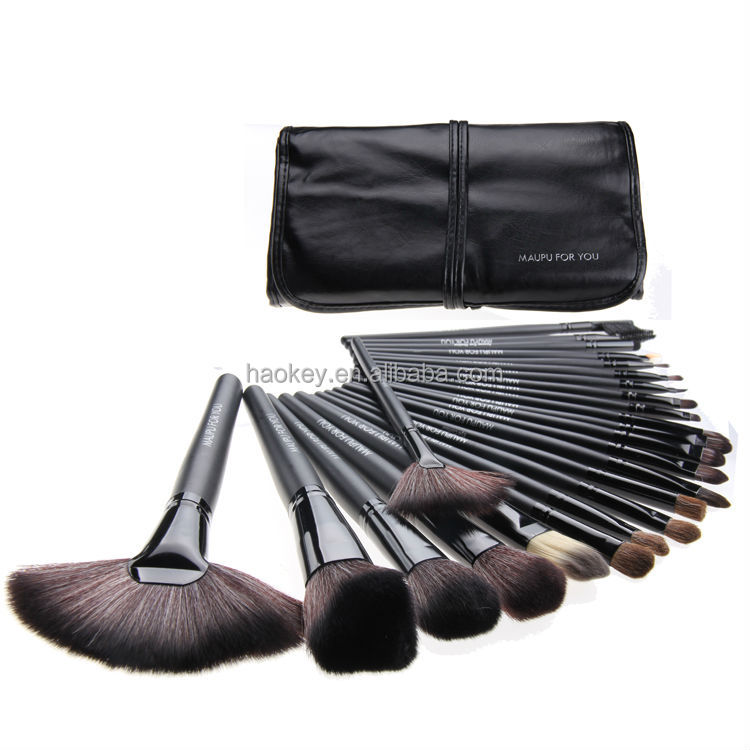 24 pcs Black Makeup Brushes Set Kits Professional 24pcs Makeup Brush Set Makeup Tools Cosmetics Facial Brushes CS024