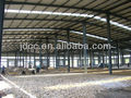 Workshop with lattice steel structure