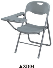 Popular office and school folding training chair with writing tablet ZD04