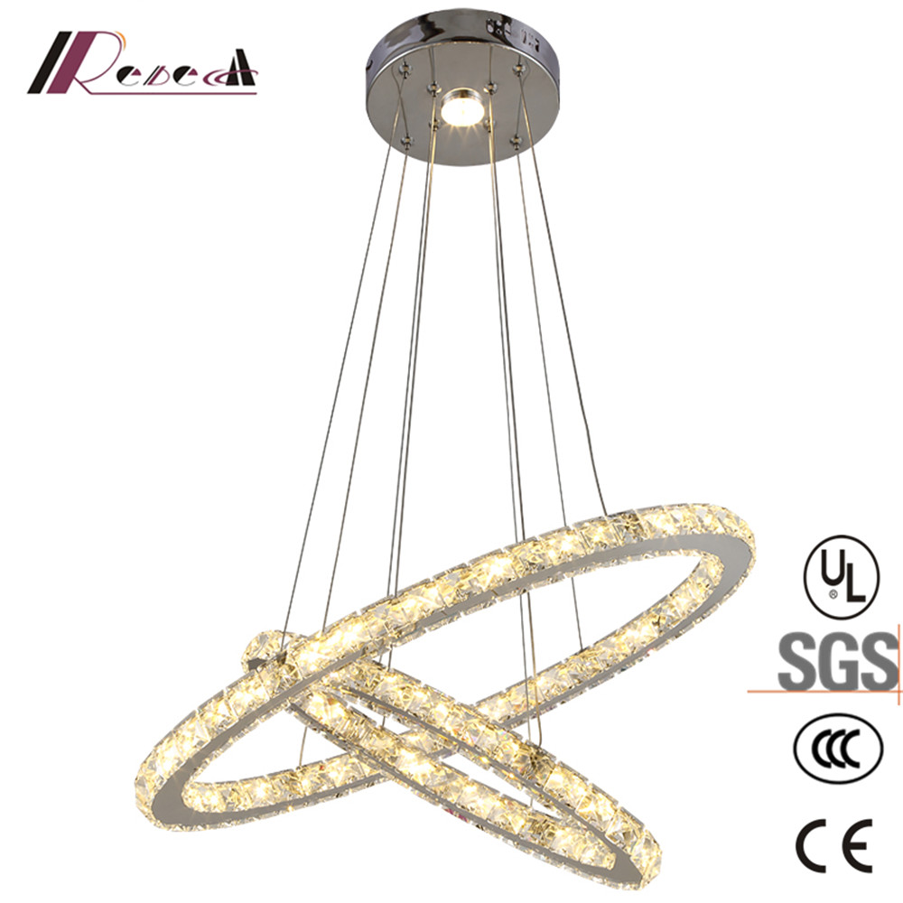 REBECCA LIGHTING acrylic double circle LED pendant lamp hote project