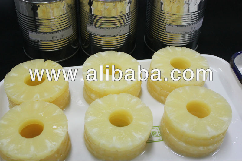 Canned Sliced Pineapples in Syrup for Private Label